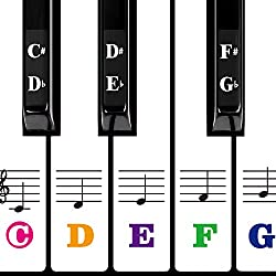 Color Piano Keyboard Stickers - Best Piano Stickers