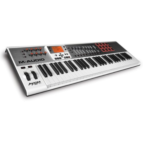 M-Audio Axiom AIR 61 | 61-Key USB MIDI Keyboard Controller with Synth-Action Keys and...