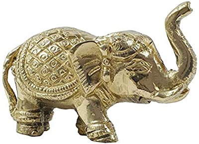 Aatm Brass Handicraft Designer Elephant (Height 2.5 Inches) for Home Décor and Gifting