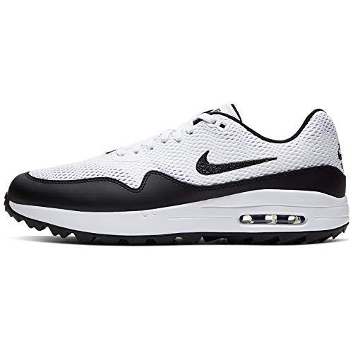 Nike Herren Air Max 1 G Golfschuh, Blanco/Negro, 44.5 EU