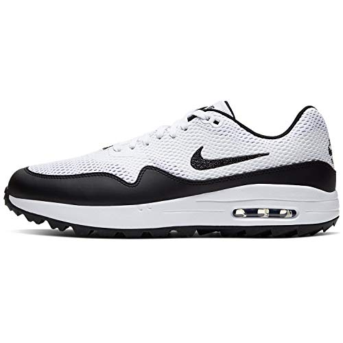 Nike Air MAX 1 G, Golf Shoe Hombre, Blanco/Negro, 44.5 EU