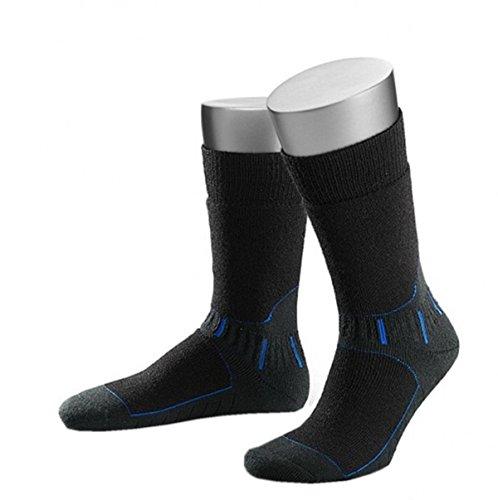 Tobeni Fonction 2 paires chaussettes Anthracite/bleu/noir - Noir - 47