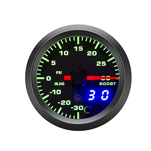 Medidor automático Tacómetro de 52 mm PRM Boost AGUGO Voltaje EGT GAIO Tempera DE ACEPE Tempera DE Aceite Presión de Aceite Medidor de automóvil para medidor de Coches de 12V Alta precisión