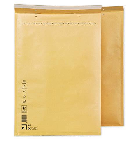 Enveloppen met luchtkussen, 320 x 455 mm, luchtkussentas I9, witte en bruine verzendtas DIN A3, keuze uit verschillende hoeveelheden 50 bruin