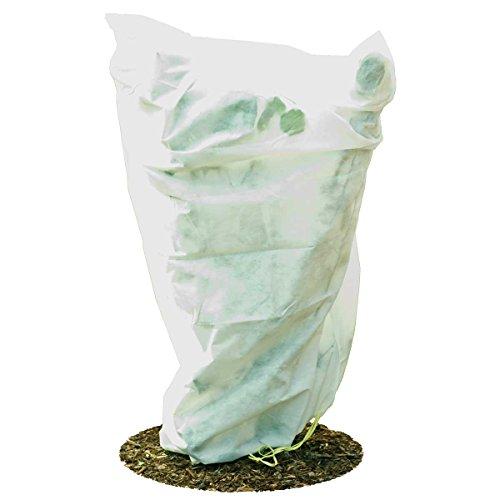 HaGa® Lot de 5 housses de protection anti-gel en non-tissé Blanc 155 x 150 cm