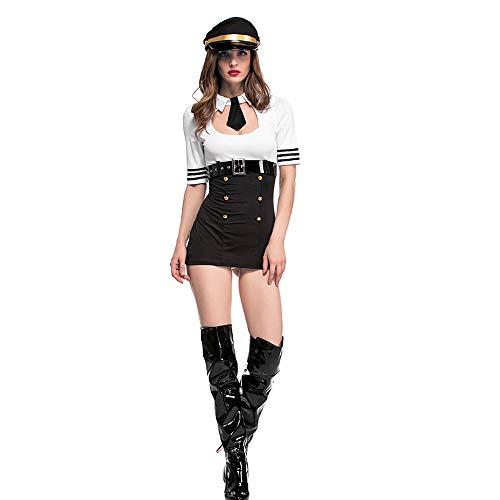 Disfraces de Halloween para adultos, Disfraces de mujer piloto sexy, v
