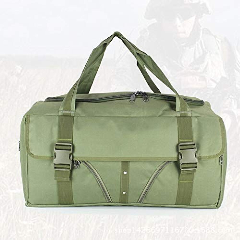 Groe Kapazitt Outdoor Travel Gym Tasche Frauen Tote wasserdicht Nylon Handtasche Camping Wandern für mnnlich 65x32x32cm Armee grün