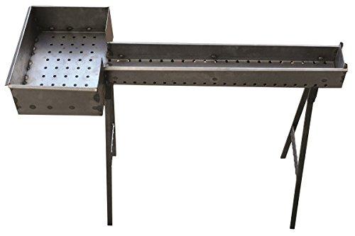 Fornacella canaletta barbecue per arrosticini 80 cm in ferro con testa 27x37 cm piedi staccabili originale Abruzzese