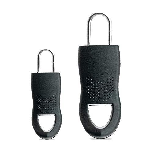 Fashion Zipper Schriftzug handmade braun Ersatz Verschluss Reissverschluss