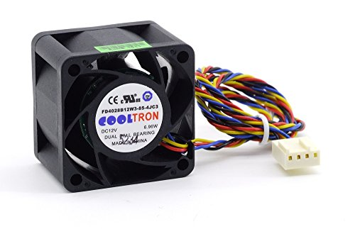Cooltron 40mm 1U CPU-behuizing Chassis Cooling Fan processor ventilator DC 12V 6,96W 4-pins (gecertificeerd en gereviseerd)