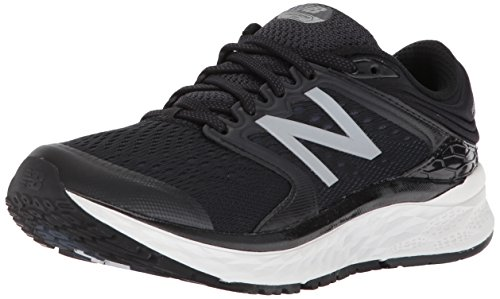 New Balance Women's 1080v8 Fresh Foam Running Shoe, Black/White, 6.5 2E US