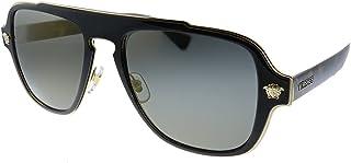 VE 2199 12524T Havana Plastic Square Sunglasses Grey Mirror Lens