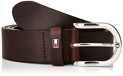 Tommy Hilfiger - DANNY BELT, Cintura da donna, Dark Brown, 95 cm