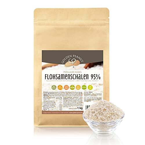 Preisvergleich Produktbild FLOHSAMENSCHALEN 95 prozentige Reinheit / hohe Quellzahl / getestet / allergenfrei / glutenfrei / Vegan / keimreduziert / Low-Carb / 1000 g