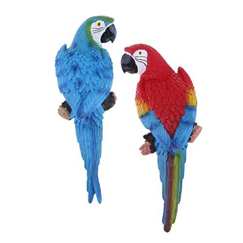 Baoblaze 2X Ornamento de Pájaro Loro de Amor Cortacésped Herramienta de Patio Decorativas
