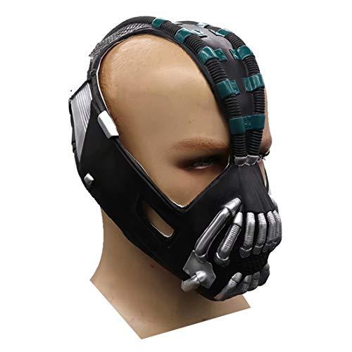 Batman Dark Knight Rise Bane Masker Speelgoed, PVC Bane Replica Helm Masker, Cosplay Kostuum voor volwassenen Eén maat Groen-latex