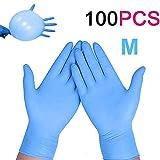 Enjoyee 100 Pcs Nitrile Disposable Gloves Powder Free Rubber...