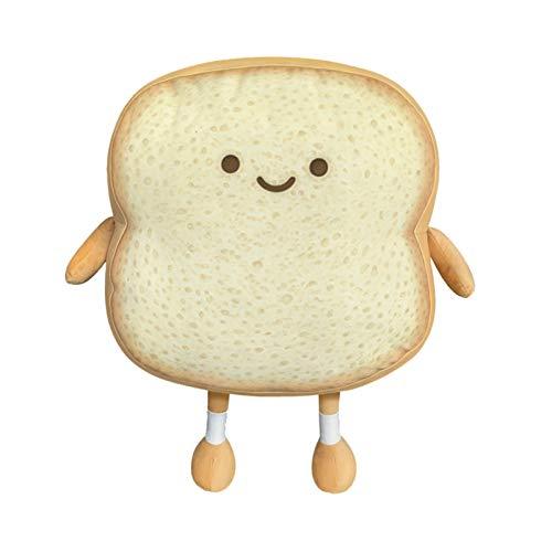 YUWEX Toast Plüsch Kissen Brotkissen Brotform-Plüschkissen Brot Kissen Plüsch Nettes Brot Gefüllte Puppe Weiches Kuscheltier lustige kissen 35 x 25 x 7cm
