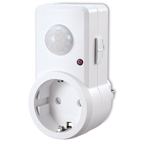 sonero IMS060 Infrarot-Bewegungsmelder Zwischenstecker - Innenmontage in Steckdose, Schutzklasse: IP20, 120° / 9m Arbeitsfeld, weiß