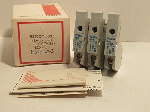 H-2005A-3 calentador térmico de sobrecarga, paquete de calentador de la serie Freedom 1.20-1.81 AMP, precio/3 /paquete H2005A3