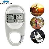 MUXAN 3D Podómetro Rastreador de Ejercicios Contador de Pasos preciso Rastreador de Actividad Podómetro de calorías quemadas Bolsillo Digital para Mujer Hombre