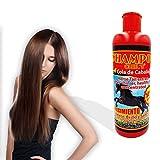 Shampoo de cola de caballo chil´s, de crecimiento acelerado, fortificante, cabello mas brillante, sano y manejable, con aceite de jojoba y 50% mas keratina.