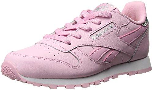 Reebok Little Kid Classic Leather Pastel Sneaker, charming pink/white, 6 Child US Little Kid