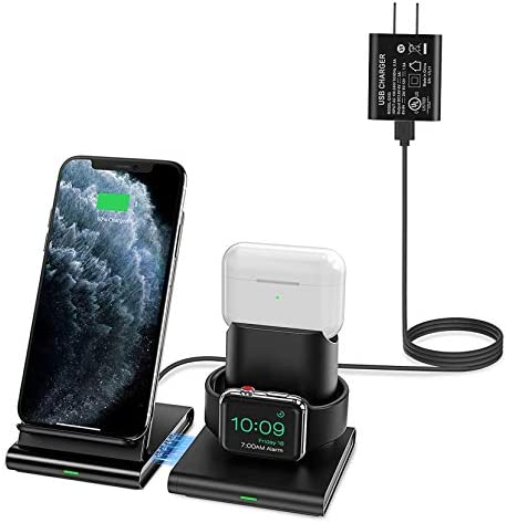 Seneo Wireless Charger 3 in 1 Wireless Charging Station for Apple Watch AirPods Detachable and product image