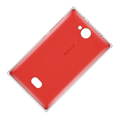Nokia Asha 503Copribatteria Originale Rosso Coperchio della batteria Back Cover Copribatteria batteria con patta con tasti laterali
