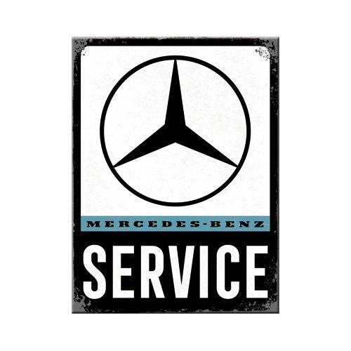 Nostalgic-Art 14373 Mercedes-Benz-Service | Retro Kühlschrank Vintage Magnet 6x8 cm, Metall, 6 x 8 x 0.1 cm