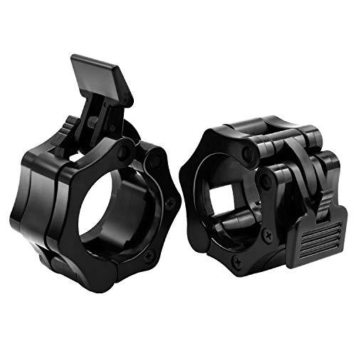 XTXM - Abrazadera para levantamiento de pesas, barra olímpica de liberación rápida, 2 pulgadas, cierre de bloqueo, ideal para levantamiento de potencia, entrenamiento cruzado, entrenamiento