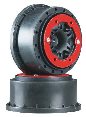 Pro-Line Split Six 2.2/3.0 Bead-Loc Wheels (2) (Slash/Rear) (Black/Red)