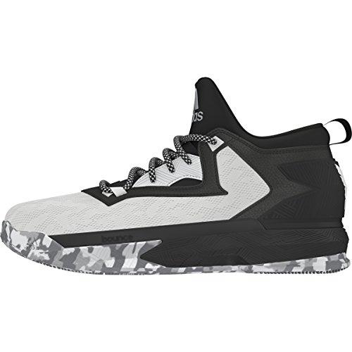 adidas D Lillard 2 Mens Basketball Shoe 16 White/Black/Clear Onix