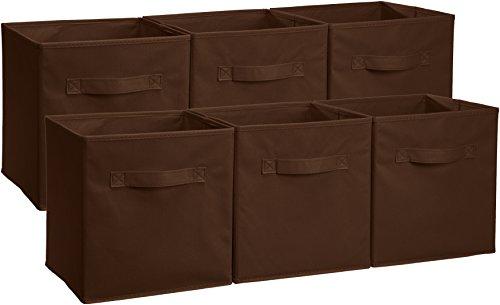 AmazonBasics Opvouwbare opbergkubussen (verpakking van 6 stuks), bruin