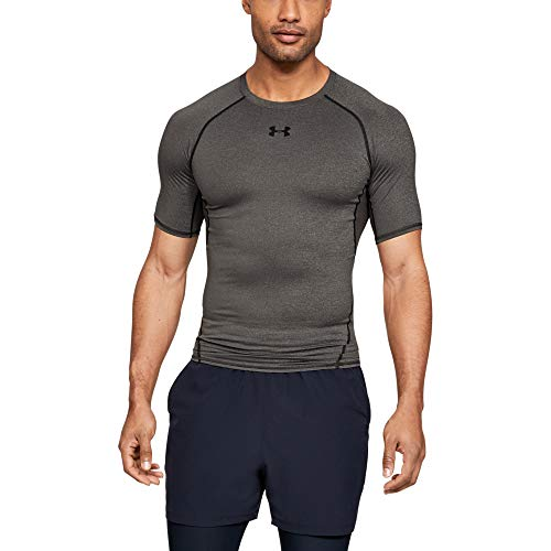 Under Armour - Heat Gear T-Shirt - manches courtes - Homme - Gris (carbone chiné) - Taille: 3XL