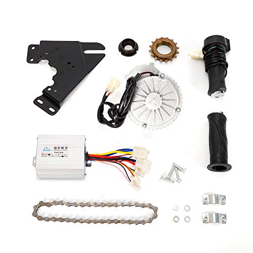 MONIPA Electric Mountain Bike Conversion Kit, 450W Rare Earth DC Motor+Chain+Freewheel Kit for Common E-Bike Bicycle Chain Drive Custom Conversion Kit (24V)