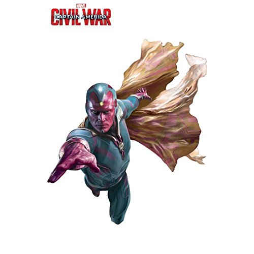 Paul Bettany/Vision 8 Inch x 10 Inch photograph Captain America Civil War The Winter Soldier The Avengers Age of Ultron Action Flying Right Arm Extended Title at Top kn