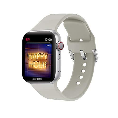 YGGFA Correa For I Venda De Reloj De 38 Mm 42 Mm 44 Mm IWatch 4 Banda De 40 Mm Reloj Deportivo De Silicona Pulsera De I 5 4 3 2 Whatchband Accesorios (Band Color : Light Grey, Band Width : 38MM ML)