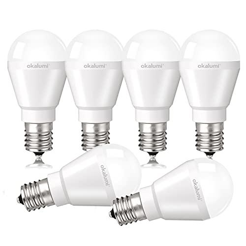 OKALUMI E17口金 LED電球 昼白色 40w形 470lm 明るい 高演色 ミニクリプトン形 ミニランプ形電球 断熱材施工器具対応 小型電球タイプ 【40形 調光不可 6個セット】