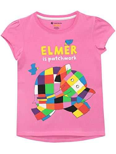 Elmer l'éléphant - T-Shirt - Fille - Rose - 5-6 Ans