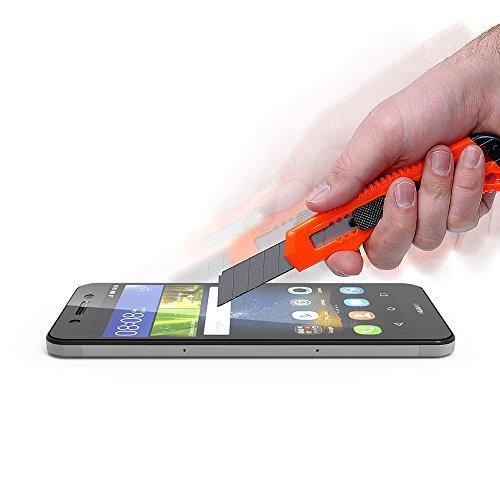 AICEK [2 Pack] Huawei P8 Lite Smart Schutzfolie, Touch Kompatibel Huawei P8 Lite Smart 5,0 Zoll Displayschutzfolie Panzerglas Displayschutz Screen Protector 9H Hardness Gehärtetem Glas - 6