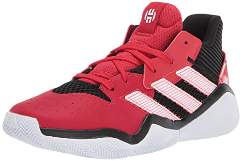 adidas Kids' Harden Stepback Basketball Shoe, core Black/Scarlet/FTWR White, 7 M US
