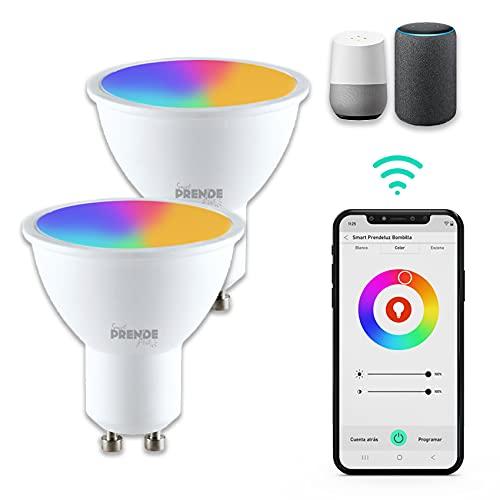 Pack ahorro SMART - Bombilla inteligente dicroica - RGB, 5.5W GU10 - Pack 2 lámpara dicroica smart