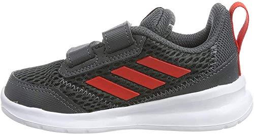 adidas Jungen Unisex Baby AltaRun CF I Gymnastikschuhe, Grau Grey Six Active Red Grey Six Grey Six Active Red Grey Six, 22 EU