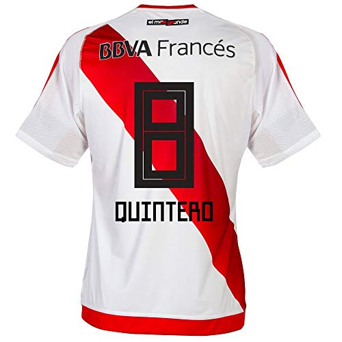 River Plate Home Trikot 2016 2017 + Quintero 8 (2018 Fan Style Beflockung) - M