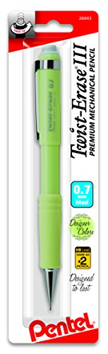 Pentel Twist-Erase III Mechanical Pencil, (0.7mm) 1-Pk - Fashion Colors (QE517FBPM)