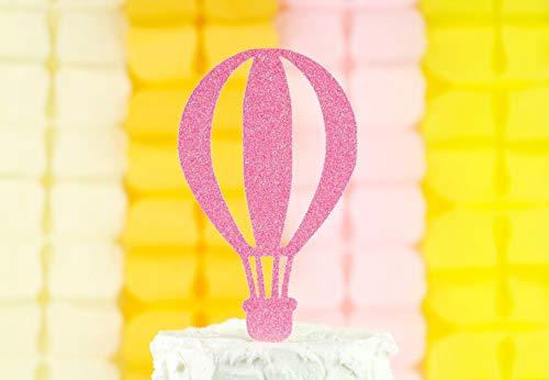 Hete lucht ballon topper, Oh de plaatsen waar je gaat taart topper, omhoog en weg feestdecoratie, eerste verjaardag decoraties, baby douche Decor