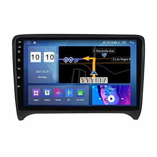 ADMLZQQ Radio Multimedia Reproductor EstéReo para Audi TT 2006-2012 AutomóVil Receptor NavegacióN NavegacióN GPS con Carplay/Dsp * 2 / Bluetooth/FM Am/RDS/USB + CáMara Trasera,M600S8core6+128
