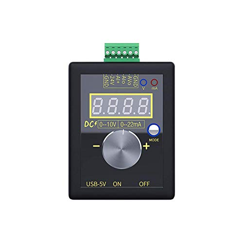 POHOVE Generador de Señales Contador Portátil Fuente Simulador Metro Gran Precisión Dc15V-30V 4-20MA Corriente Voltaje Analógico Simulador para Valor Ajuste PLC Panel LED Prueba