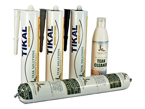 Tikalflex TSC Teak-Nähte-Kit/Kit für Teakholz | Schwarz | 300ml | Einfache Verarbeitung, Hervorragende Haftung